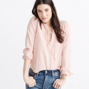 Abercrombie & Fitch tie front blouse